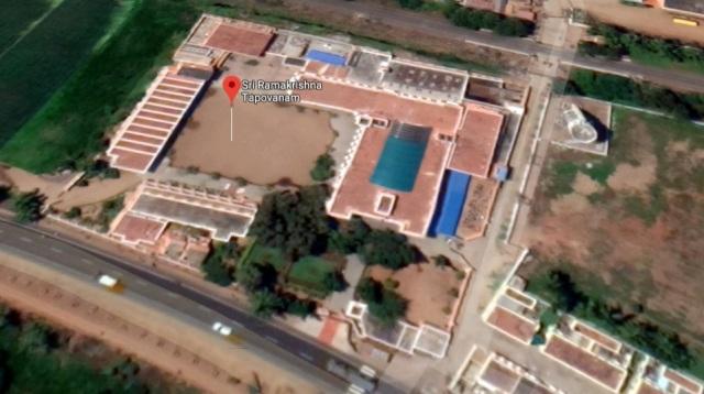 Ramakrishna Tapovan - Aerial view