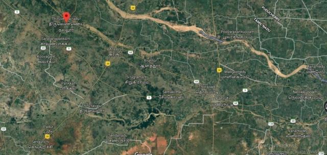 Thiruvennainallur temple location - google