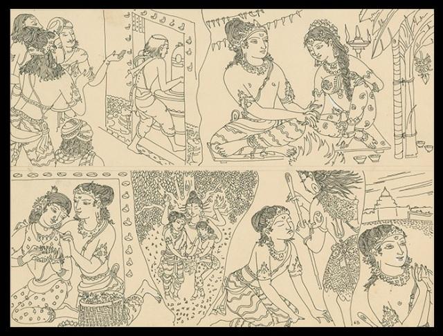 Thiruvennainallur temple - sundarar sketch