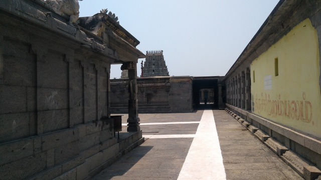 Thiruvennainallur temple - view from backside