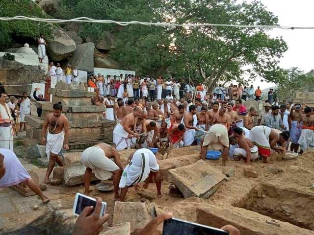 Nava Brindavan restoring work started by devotees-1