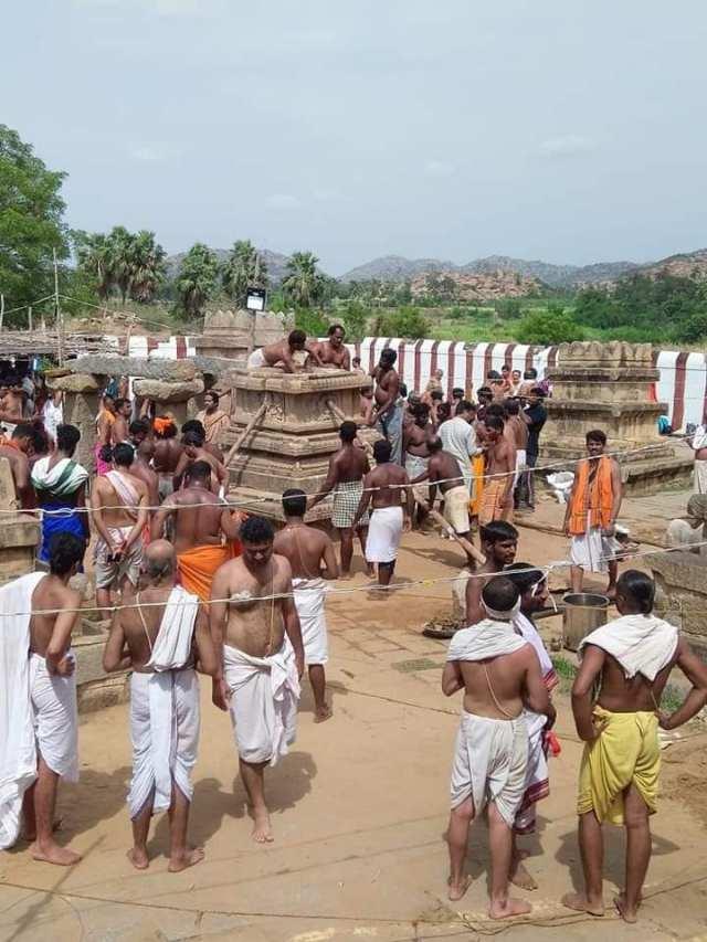 Nava Brindavan restoring work started by devotees-11