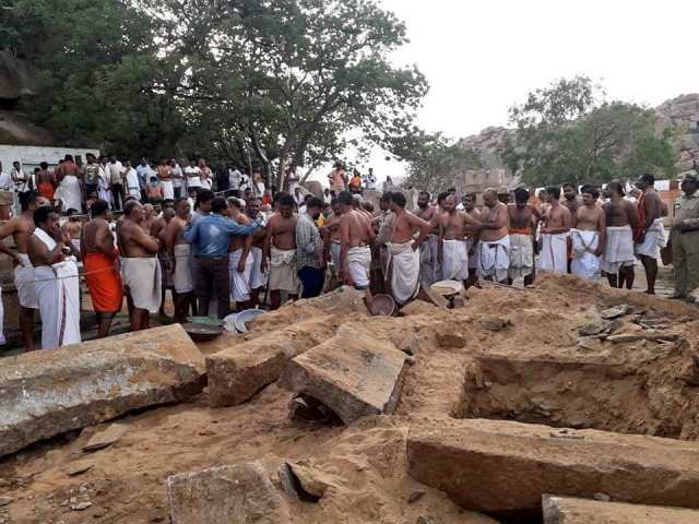 Nava Brindavan restoring work started by devotees-3